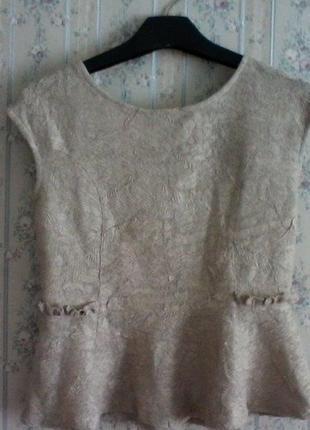 Блуза от zara с  баской, разм. 44