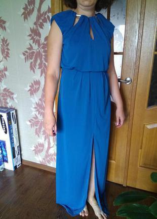 Платье длинное в пол красивое с разрезом открытая спина