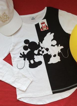 Белая блуза-реглан minnie mouse disney, размеры 152 (12 лет)