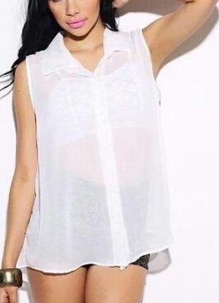 Легкая блуза майка разлетайка zara