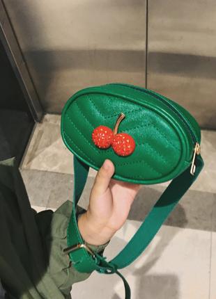 Новая изумрудная детская поясная сумка
