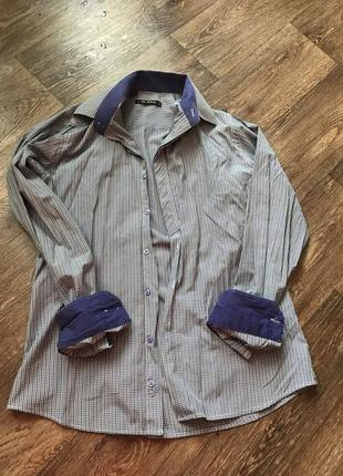 Рубашка мужская с манжетами
