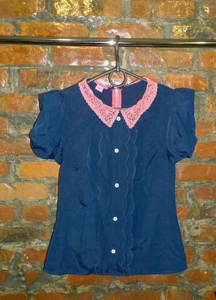 Топ блуза кофточка с кружевным воротничком monsoon