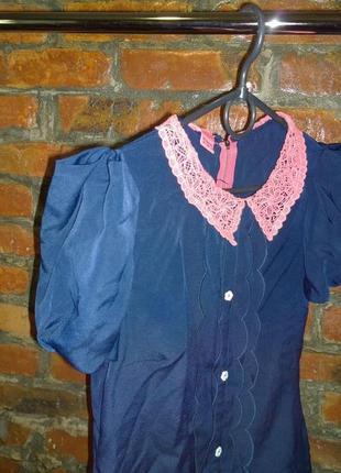 Топ блуза кофточка с кружевным воротничком monsoon2 фото