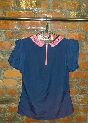 Топ блуза кофточка с кружевным воротничком monsoon3 фото