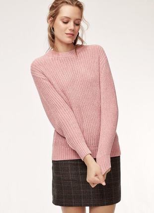Красивый свитер кофта 2 в 1 на замке