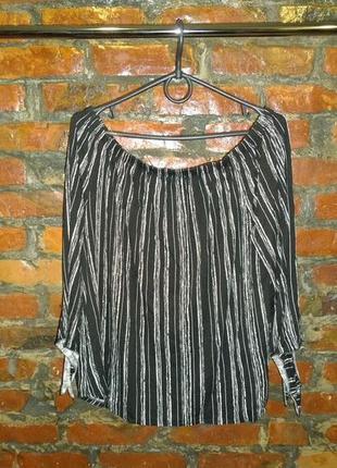 Топ блуза кофточка со спущенными плечами в полоску george2 фото