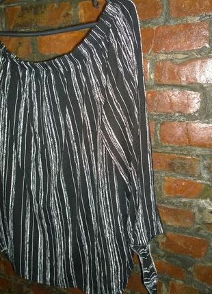 Топ блуза кофточка со спущенными плечами в полоску george3 фото