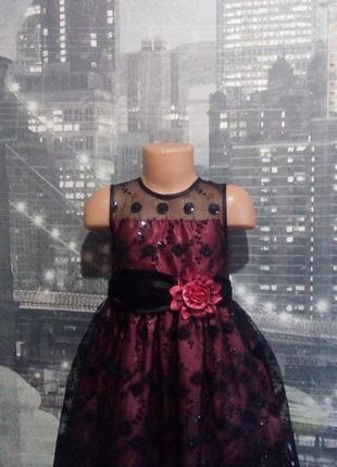 Нарядное платье,выпускное,с кружевом,5-6л