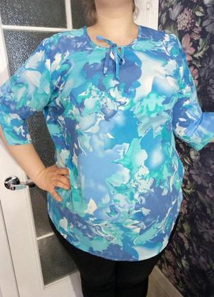 Нарядная шелковая блуза от m.collection, размер 22