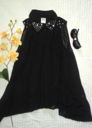 Базовая блуза с расшитым воротником от vero moda, p. s/m