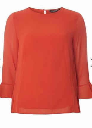 Красивейшая коралловая блуза