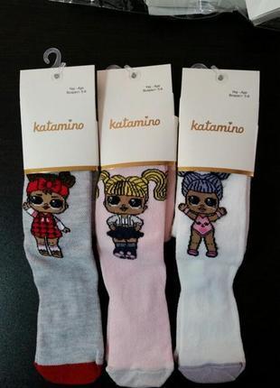 Есть размеры! набор  колготки лол колготы для девочки lol сетка 2-6 лет katamino катамино
