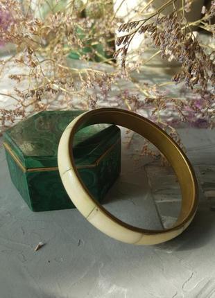 Винтажный браслет из кости натуральной