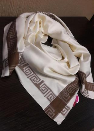 Роскошь💝айвори шёлковый турецкий платок люкс качество