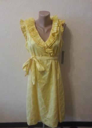 Нарядное платье с рюшами хлопок