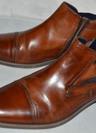 Мужские ботинки кожа bugatti размер 43 44