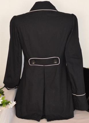 Брендовый черный коттоновый плащ тренч с карманами dorothy perkins вьетнам этикетка2 фото
