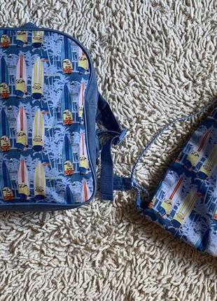 Комплект рюкзак+сумка-рюкзак для обуви миньоны