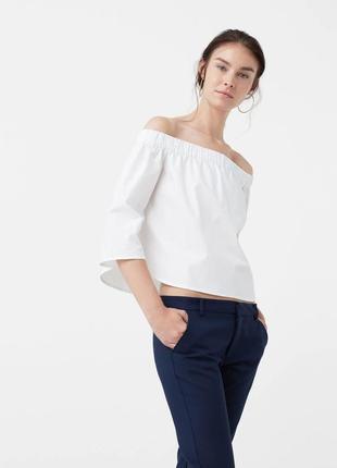 Рубашка блуза хлопок mango хит лета
