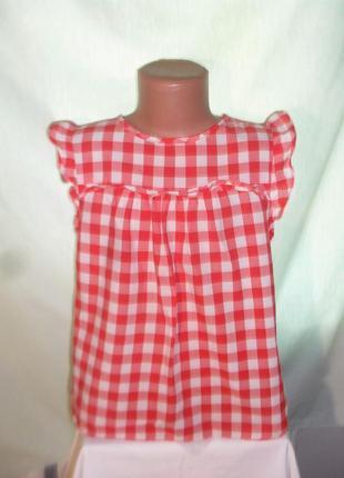 Легкая хлопковая блузка на 8-9лет