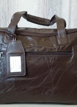 Стильная большая сумка кожа унисекс англия cotton traders