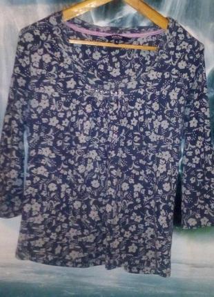 Кофта под джинс с цветочным принтом