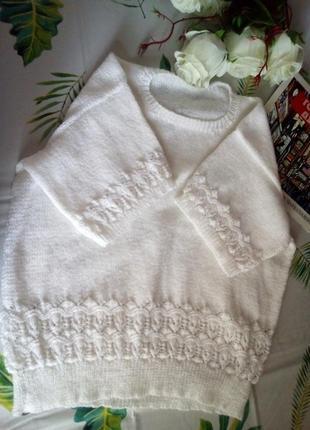 Вязанная футболка ,ажурная вязка