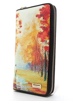 Кошелек кожаный женский на молнии осень4 фото