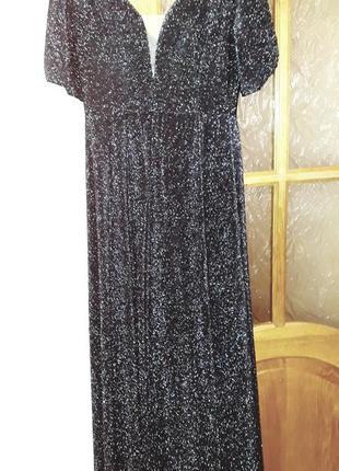 Плаття жіноче вечірнє довге люрексове