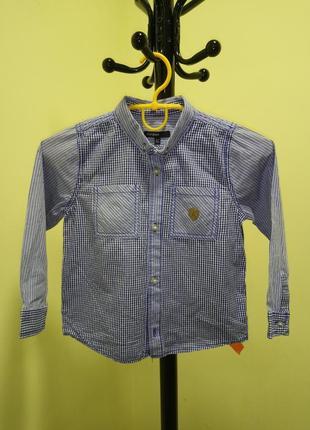 Рубашка в клеточку для мальчика marks&spencer