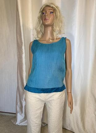 Сочная бирюза шелковая блуза натуральный шелк 100% подклада шелк3 фото