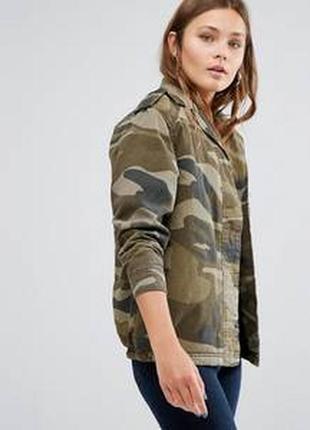 Камуфляжная,утепленная,оверсайз,бойфренд куртка на подкладке borg