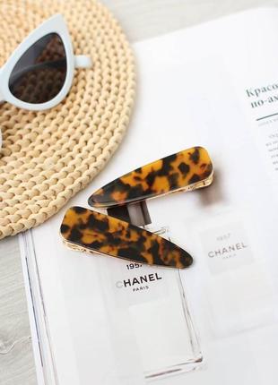 Хит 2019! большые леопардовые заколки для волос