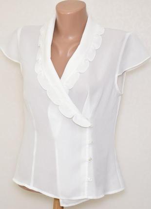 Блуза на запах с красивым воротником minuet, размер м
