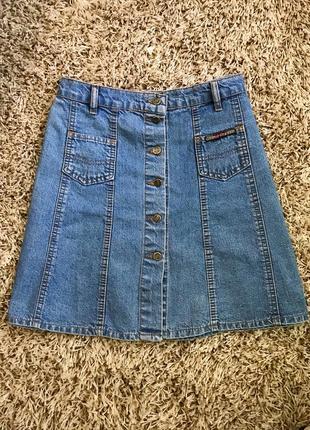Юбка джинсовая на пуговицах размер м