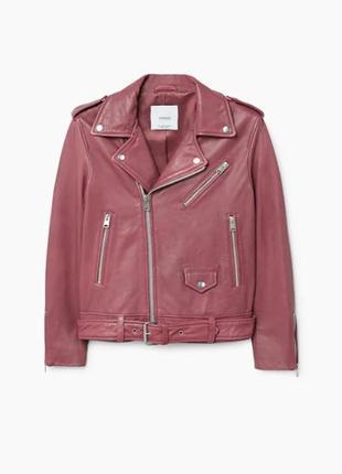 Кожаная куртка mango р. s, оригинал косуха с лацканами,натуральная кожа,курточка