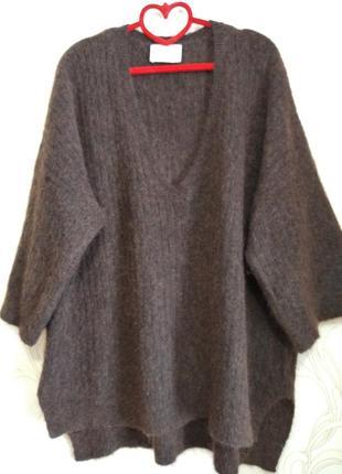 Шикарный пуловер кофта с коротким рукавом