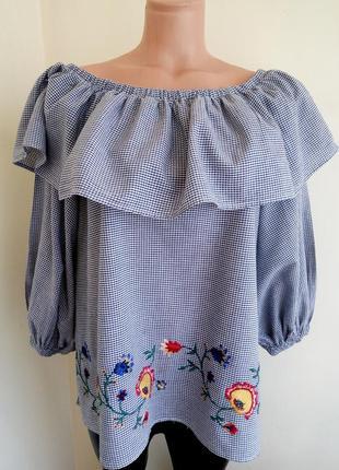 Блузка хлопок zara woman p.xs