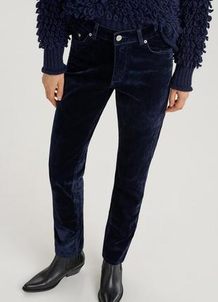 Велюровые джинсы брюки