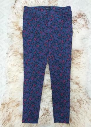 Узкие брюки дудочки в цветочный принт