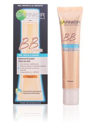 """Bb-крем для смешанной и жирной кожи """"секрет совершенства"""" garnier skin naturals"""