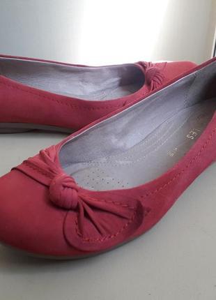 38 р. кожаные симпатичные туфли балетки heavenly soles by nex