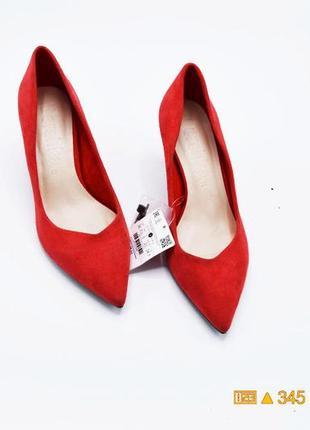 38 р замшевые туфли классические bershka3 фото