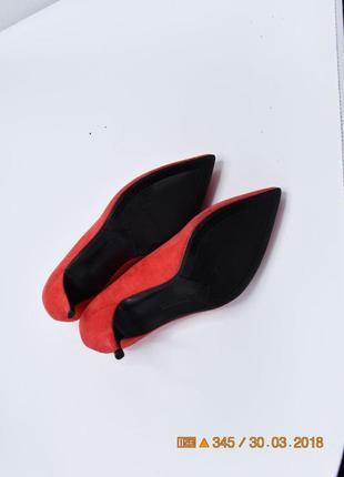 38 р замшевые туфли классические bershka5 фото