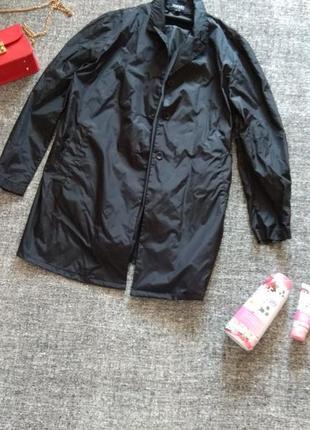 Стильный черный плащик-дождевичек от бренда esprit/ размер l-12