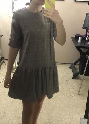 Платье zara в клеточку