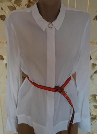 Белоснежная блузка рубашка  от  autograph