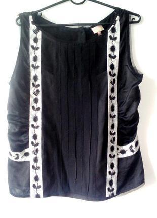 Шелковая майка-блуза