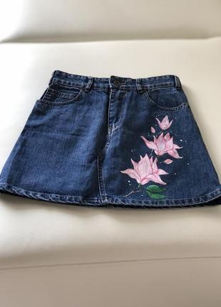Коутейшая джинсовая юбка